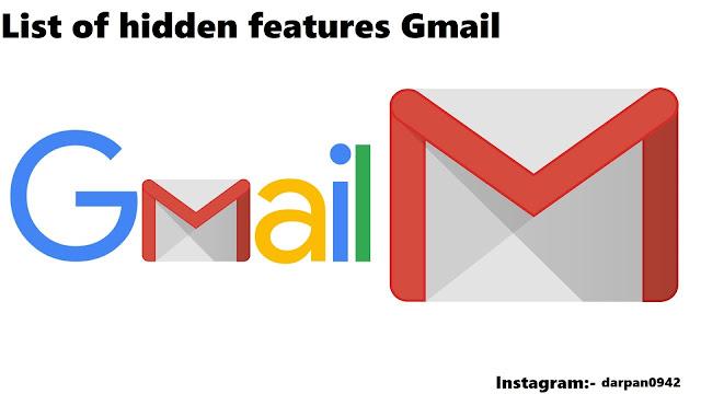 List of hidden features Gmail
