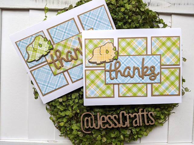 Cards from One Sheet Wonder Template #6 by Jess Crafts