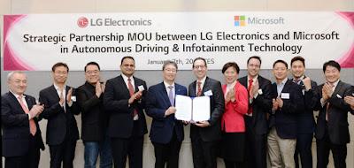 LG y Microsoft firman acuerdo para desarrollo de tecnología automotriz
