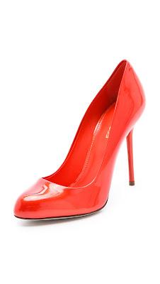Zapatos de moda rojos