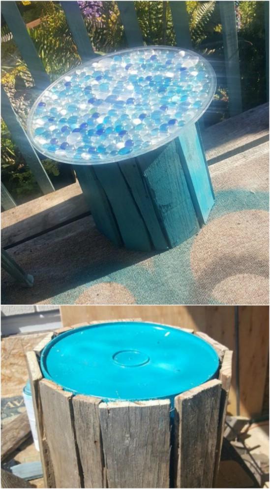 DIY%2BFive%2BGallon%2BBucket%2BPatio%2BTable 15 DIY Genius Project Ideas For Repurposing Old Gallon Buckets Interior