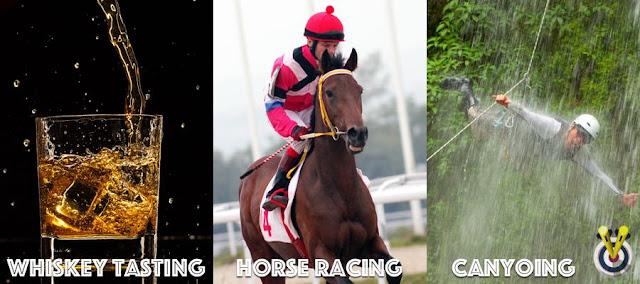 Whiskey Tasting, Horse Racing & Canyoning