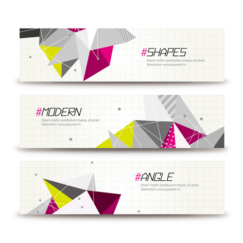 banner Abstract shapes banner vector