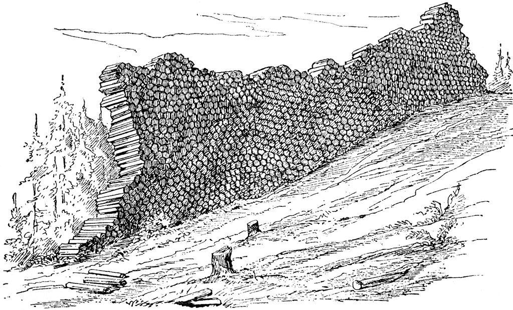 Naturwunder ...: Die Teufelsmauer bei Kessel / Oschitz unweit von ...