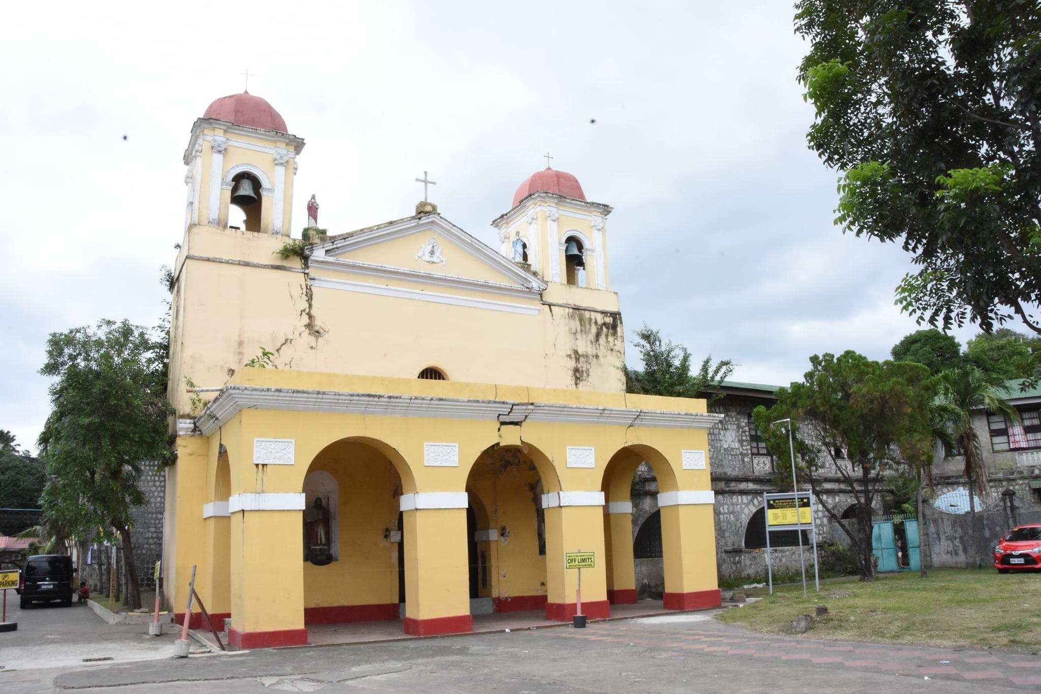 Façade of Caysasay Church