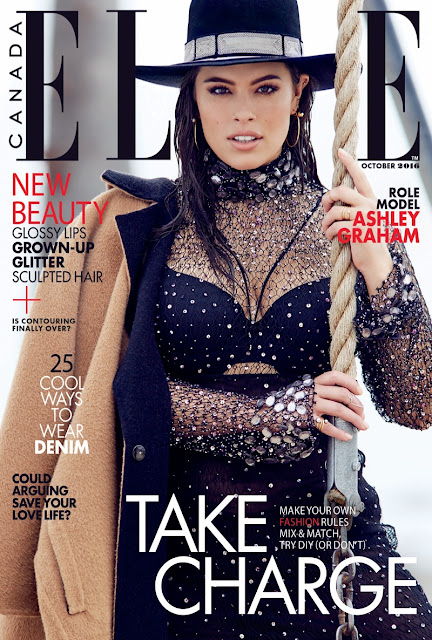 Fashion Model, @ Ashley Graham for Elle Canada October 2016