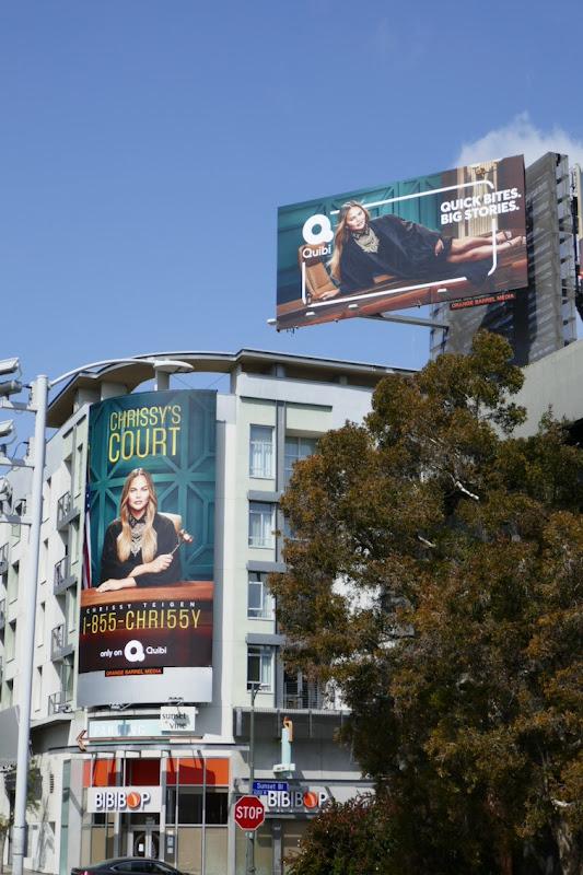 Chrissys Court Quibi series launch billboard