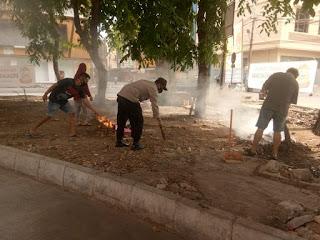 Peduli Lingkungan, Bhabinkamtibmas Pattunuang Kerja Bhakti bersama Warga