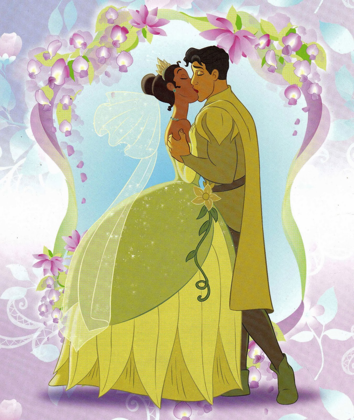 Tiana and naveen after wedding the princess and the frog ...