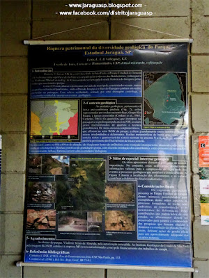 Pôster da cientista Lucélia Letta sobre a geologia do PEJ