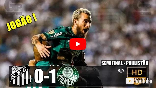 Santos 0 x 1 Palmeiras