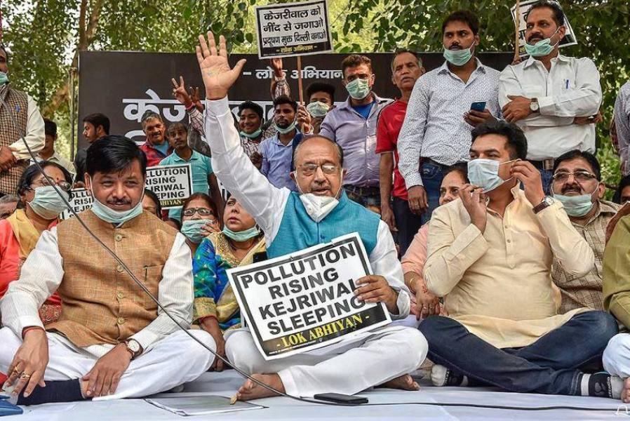 दिल्ली में फिर खराब हुई हवा: 15 दिन और नहीं मिलेगी राहत, बीजेपी नेता बोले- केजरीवाल को चिंता नहीं