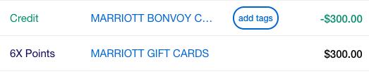Marriott Bonvoy Brilliant $300 Statement Credit Gift Card