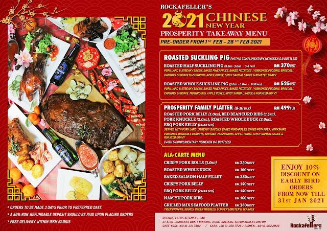 Rockafellers Changkat CNY 2021 Delivery Menu