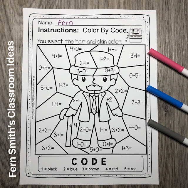 Click Here for this Baa Baa Black Sheep Color By Number Remediation Sums to 5 Worksheets Resource