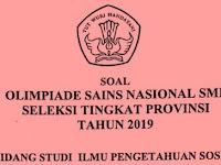 Soal OSN IPS SMP Tingkat Provinsi Tahun 2019