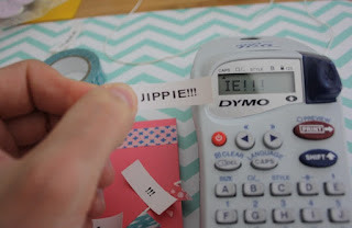Jippie-Schriftzug mit Labelmaker