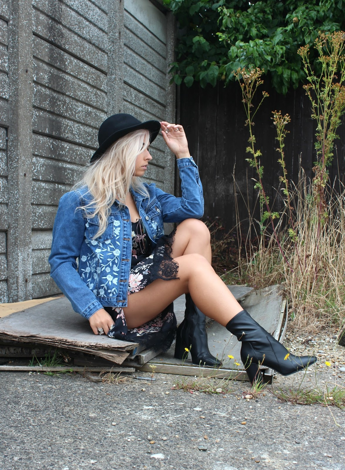 Floral Denim Jacket from Glamorous