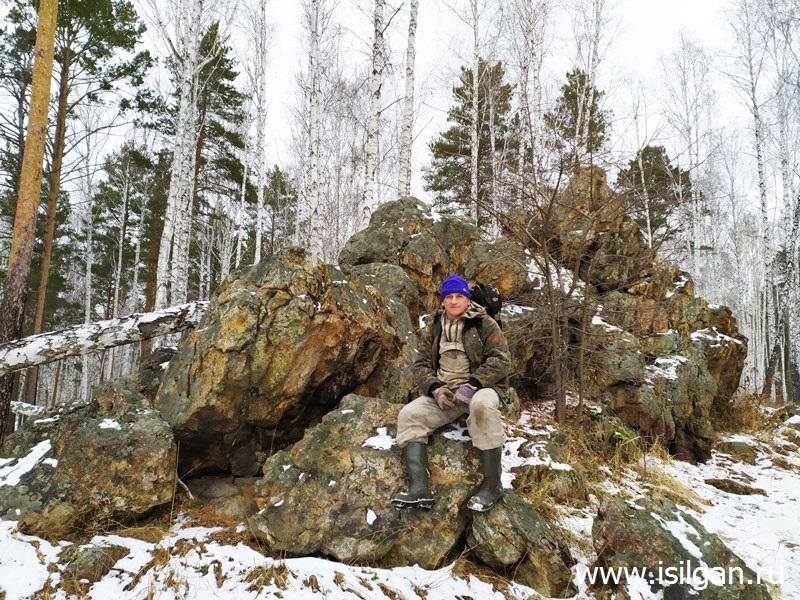 Скала. Озеро Орешково (Скала, Карайкуль). Город Озерск. Челябинская область