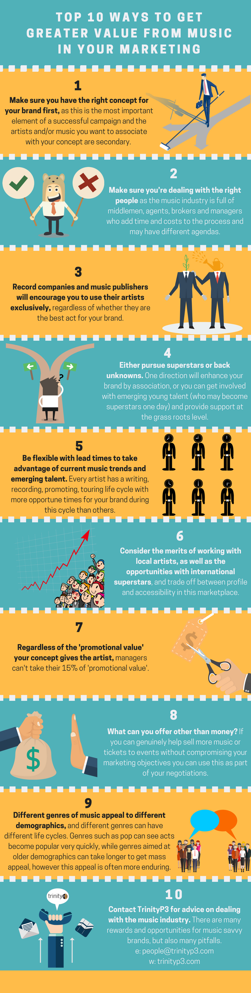 Top 10 Ways To Get Greater Value From Music in Your Marketing #infographic #Marketing #Music #Music Industry