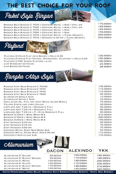 Daftar Harga Terpasang
