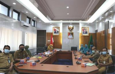 Sekda Muara Enim ,Ir Hasanuddin Hadiri Video Conference bersama Kemendagri.
