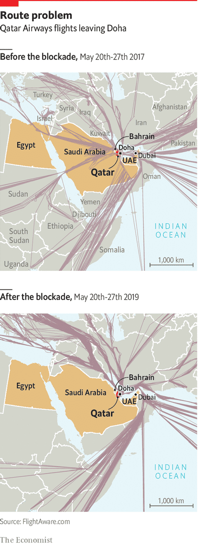 Bridging the Gulf - The feuding Gulf states are trying to make nice | Middle East & Africa | The Economist #Qatar