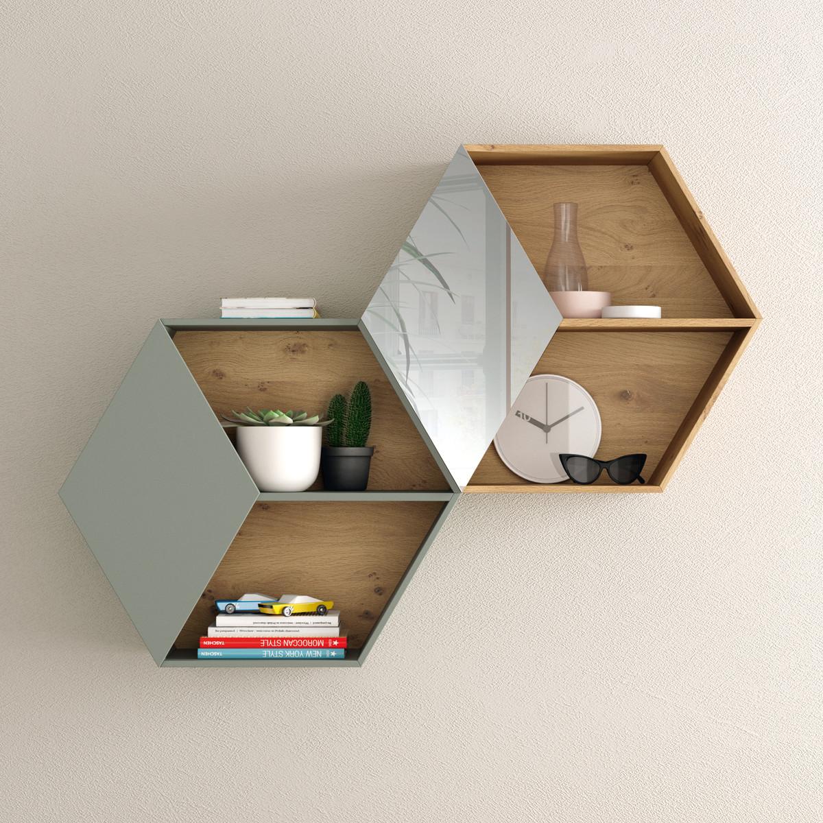 Półka w kształcie szcześciokątu