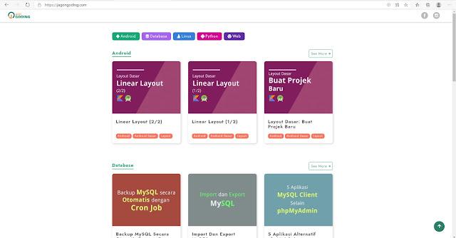 Tempat Belajar Coding Gratis : Jago Ngoding