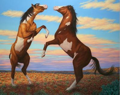 caballos-peleando