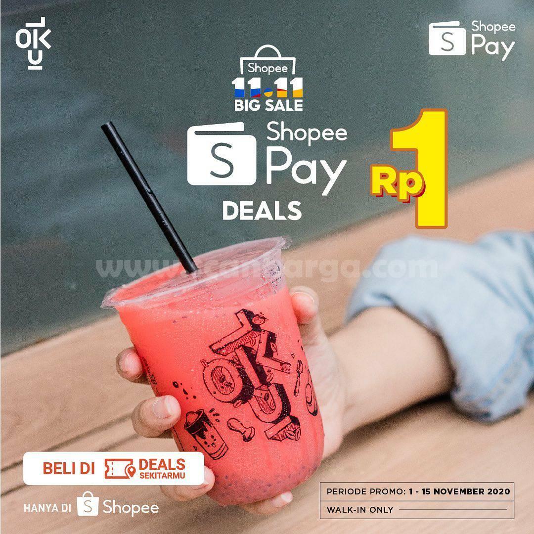 Kedai Kopi Kulo Promo Cashback 60% dengan Shopeepay