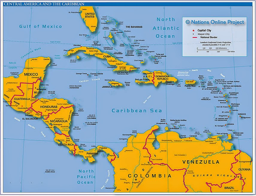 Central America maps for visitors