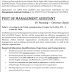 Post of MANAGEMENT ASSISTANT - Ministry Of Health