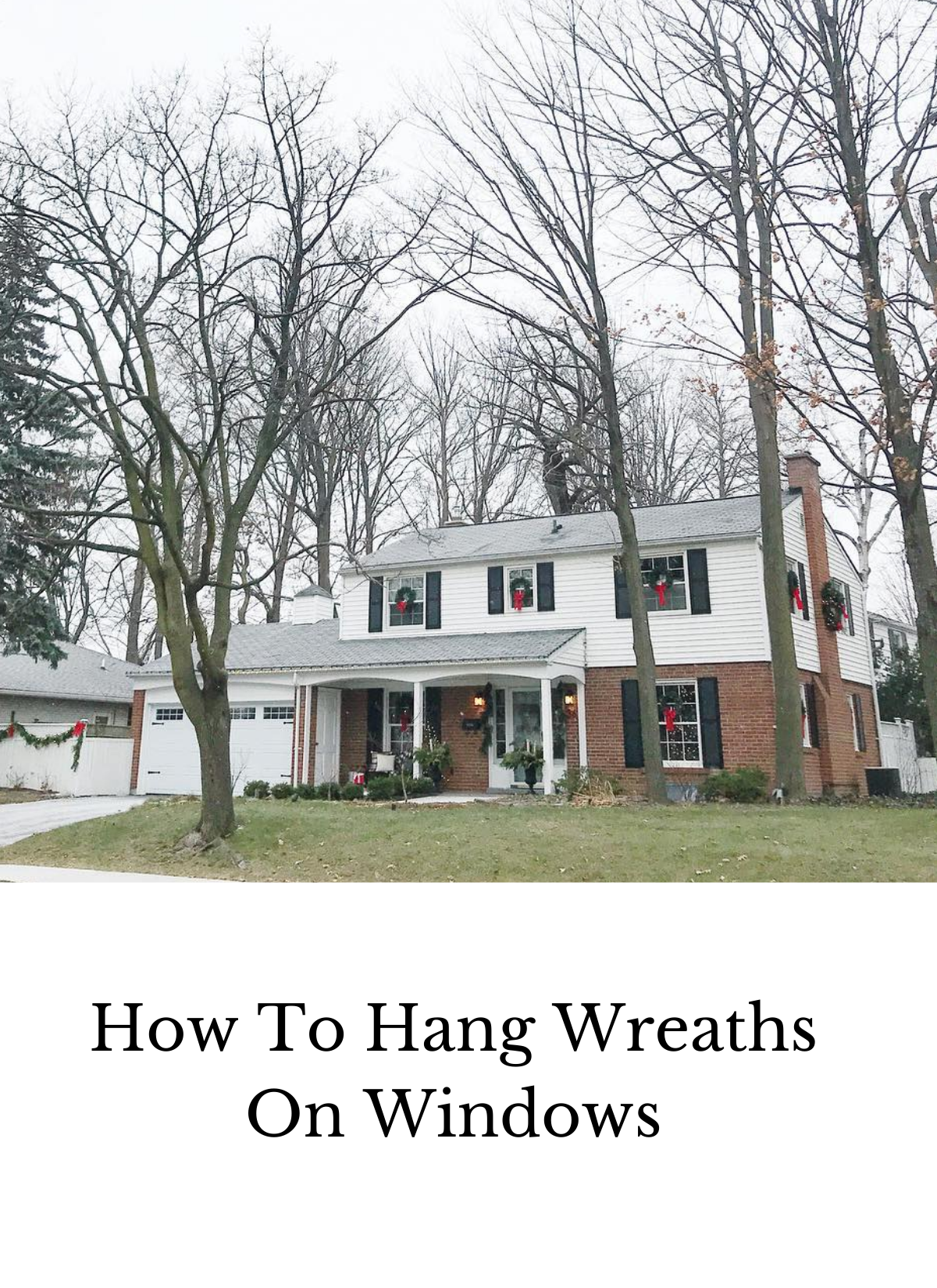 how to hang wreaths on windows