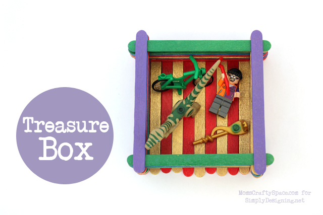 Treasure Box with Popsicle Sticks - this is a really fun kid craft that has so many uses!  #kidcraft #kidactivity #summer