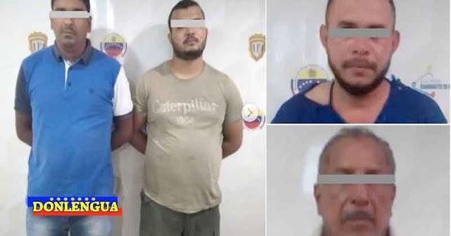 Cuatro asesinos detenidos por homicidio en Guárico