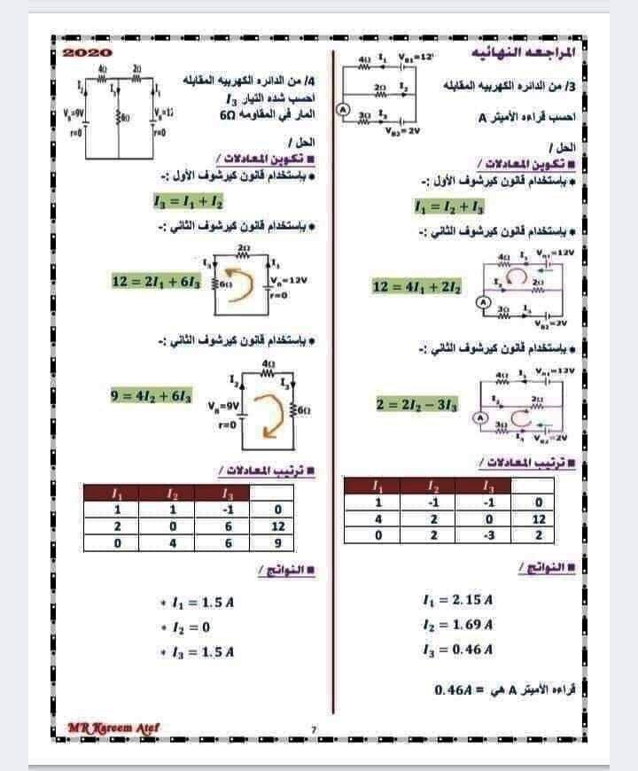8 ورقات مهمين لمراجعة الفيزياء للصف الثالث الثانوي 7