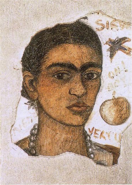 Фрида Кало - Автопортрет - очень уродливая. 1933