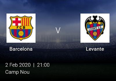 LIVE MATCH: Barcelona Vs Levante Spanish Laliga  02/02/2020
