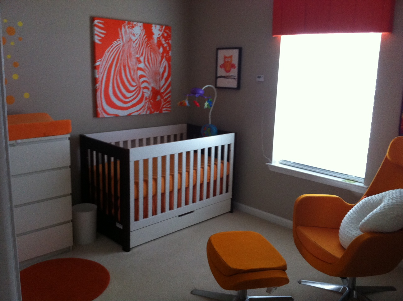 Everywhere Orange Cornice Board And Whole Nursery