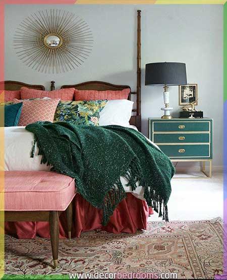 الوان غرف النوم للمتزوجين بالأخضر والأزرق