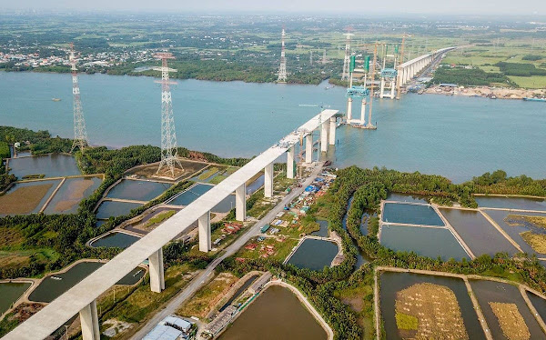 ảnh minh họa tiến độ xây dựng cao tốc biên hòa vũng tàu giúp kết nối tp HCM với khu du lịch biển Hồ Tràm ( Vũng Tàu )