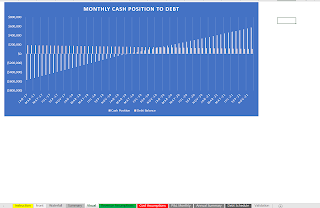 monthly cash flow visual