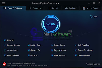download software avc pro atau advanced systemcare pro gratis 2016, software maintance komputer