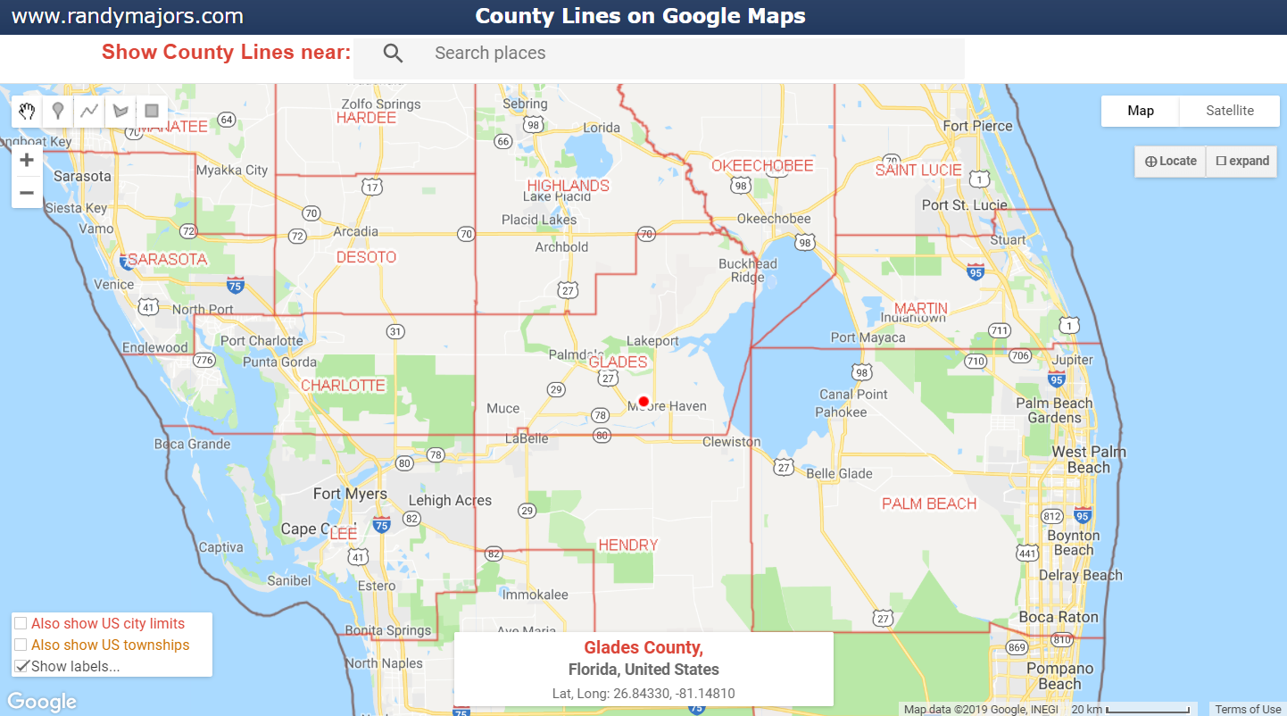 Florida County Map Google.Www Randymajors Com