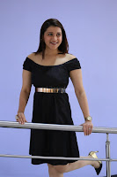 Mannara Chopra in Short Off Shoulder Black Dress ~  Exclusive 009.JPG