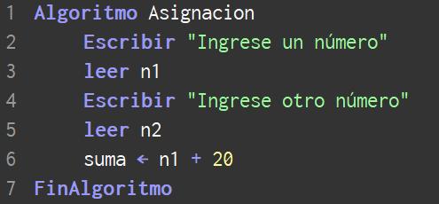 En qué consiste la asignación de una variable