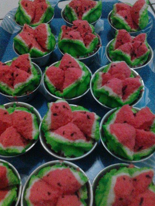 Bolu Kukus Semangka : kukus, semangka, Resep, Membuat, Kukus, Mekar, Warna, Semangka