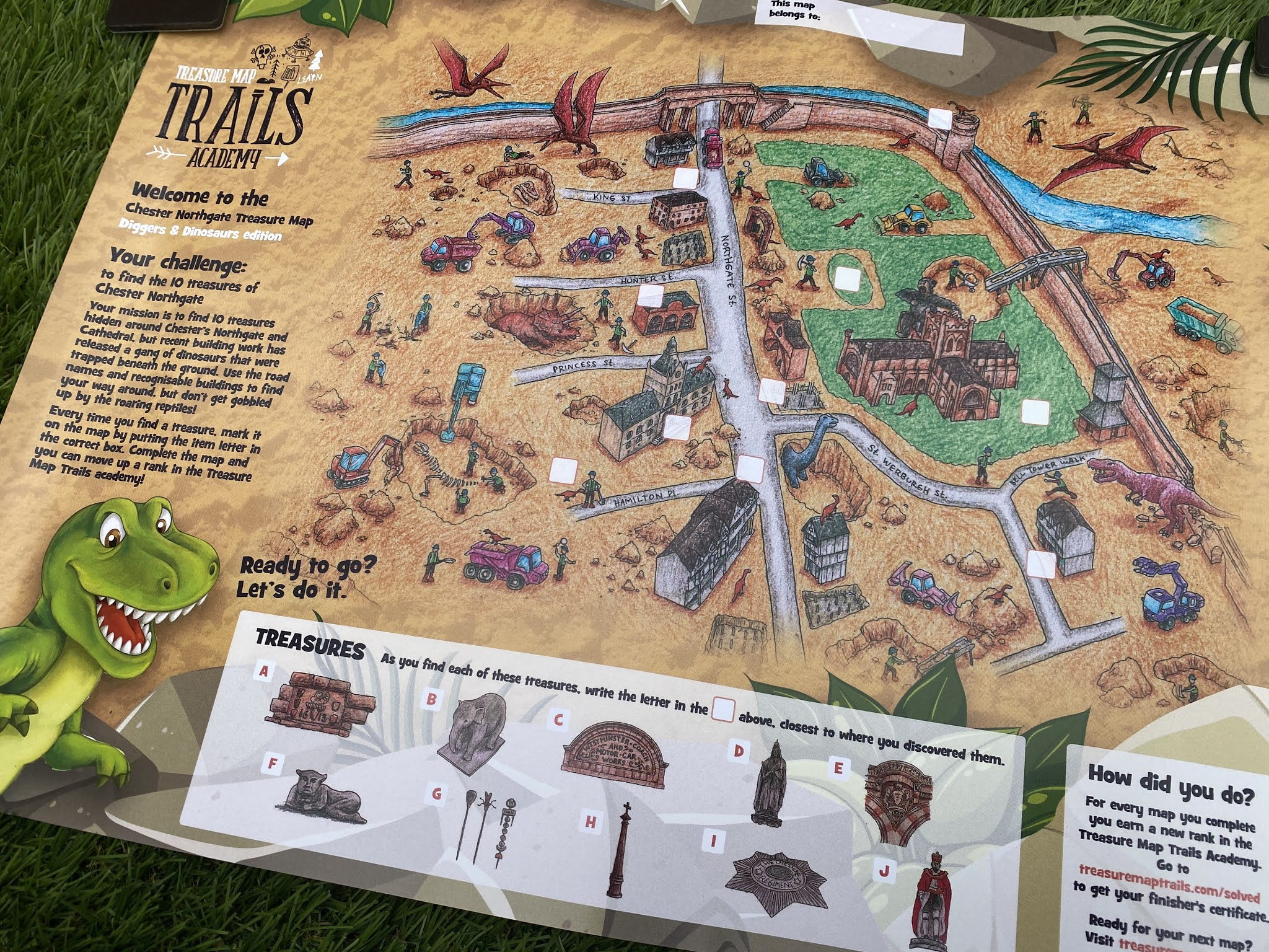 Treasure Map Trails - Dinosaurs and Diggers