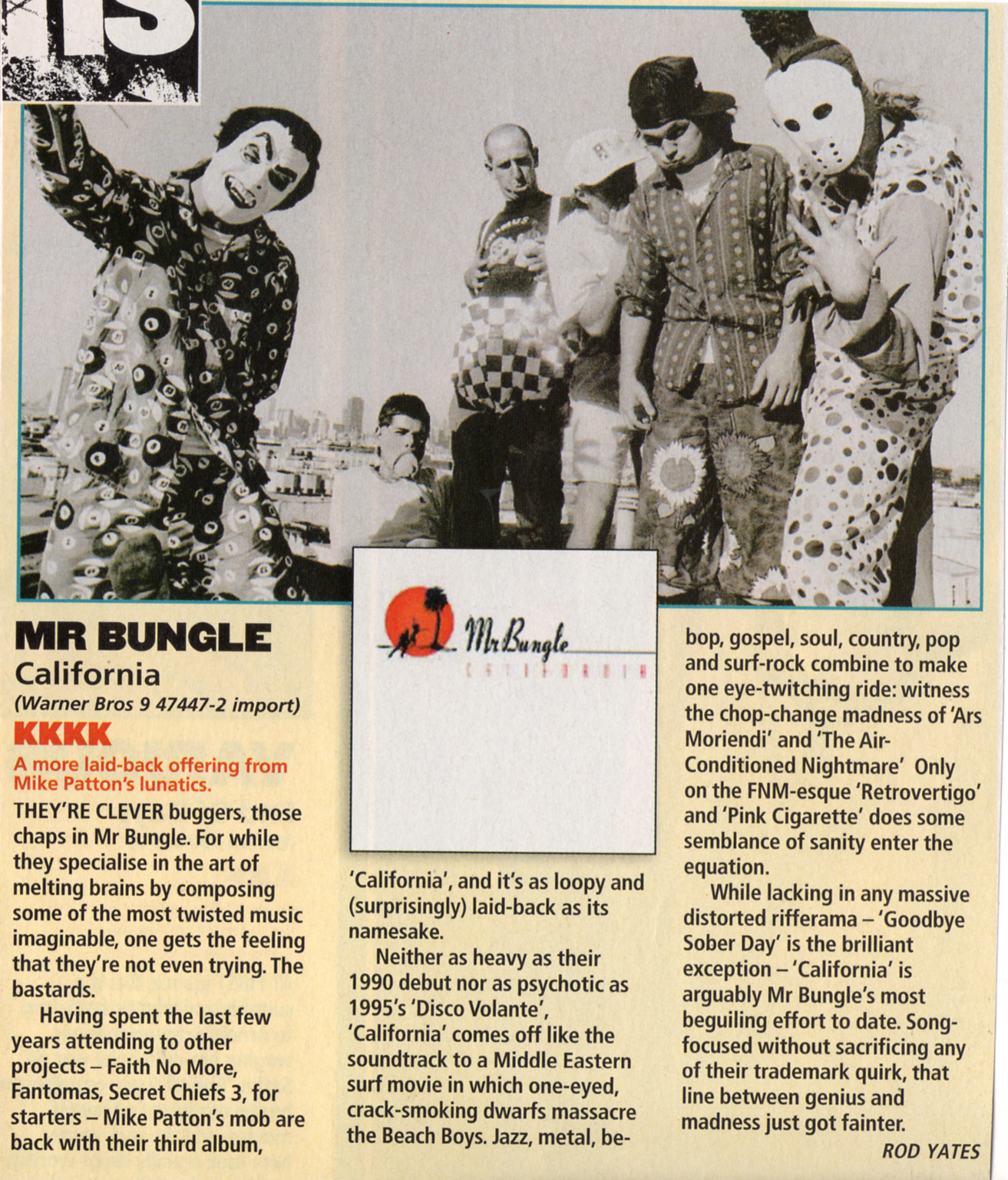 MR  BUNGLE 'California' was released 20 years ago!